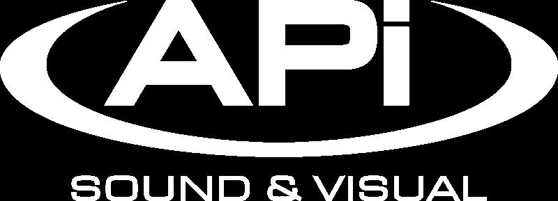 APi Sound & Visual Logo White Church Projection & Sound Installation